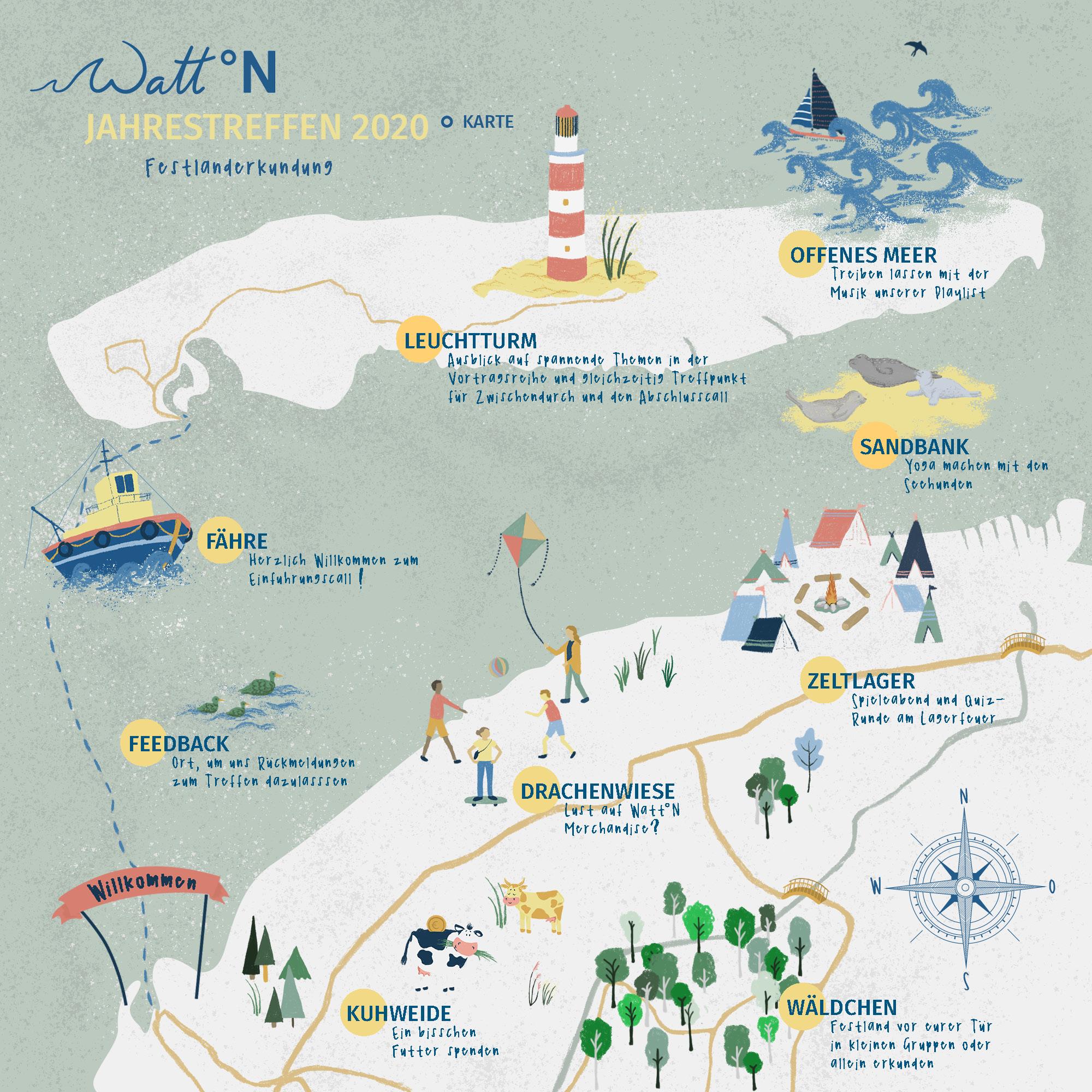 Wunderschöne Karte für das Jahrestreffen.